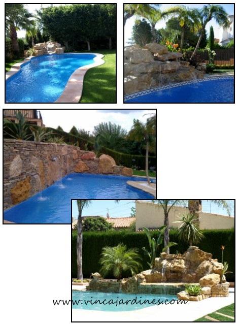 Cascadas para piscinas en valencia for Cascadas de piscinas